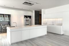 1000 Museum Kitchen White Counter