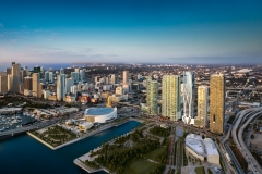 Downtown Miami Skyline featuring - One Museum condominium